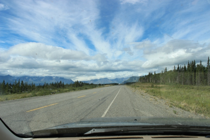 Truly 'Big Sky' country as we are coming into Haines Junction, Yukon Territories