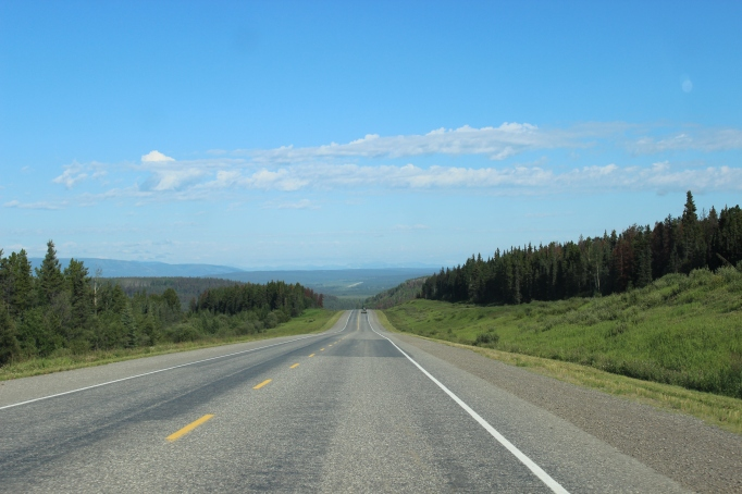 Along the Alaska Highway one can often see for miles and miles and miles!