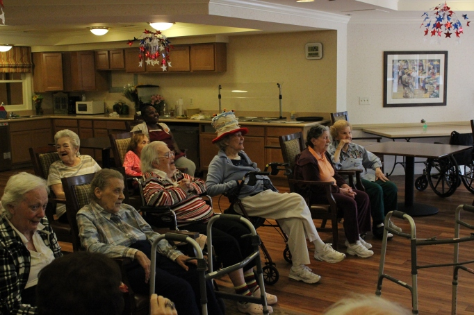 Musical performance for the Reminiscence residents of the Northville Sunrise