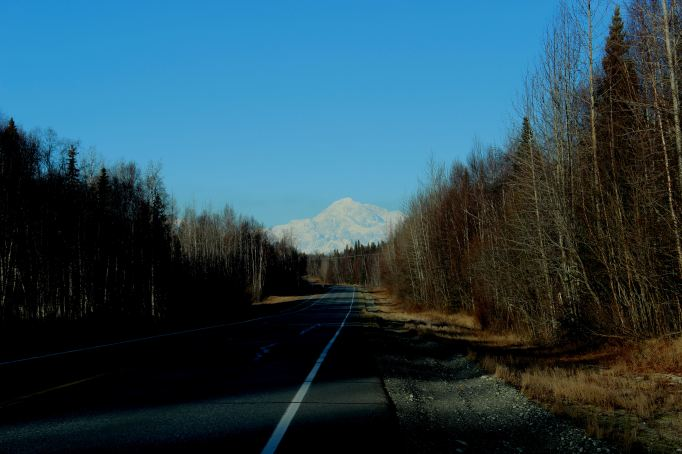Denali (Mt McKinley to the uninitiated...) from Mile 5.7 of the Spur