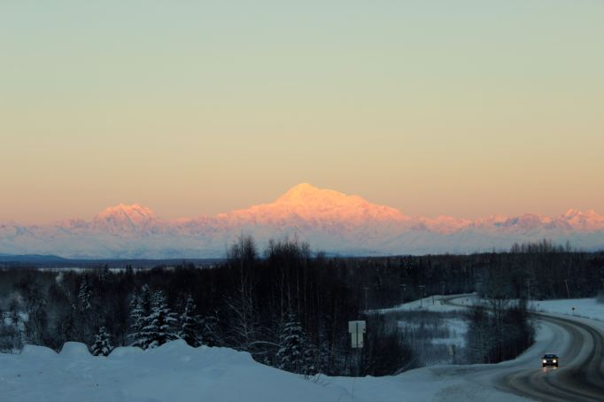 Denali In Morning Alpenglow