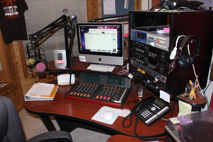 KTNA Main Studio Desk