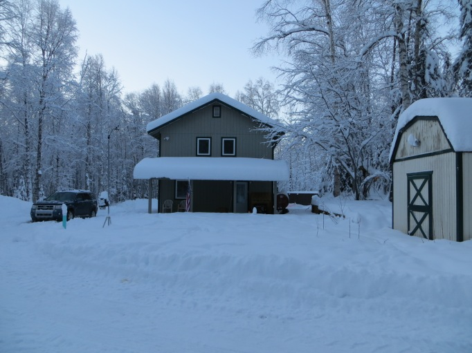 The front of my place after a good snow; this was taken Christmas Eve of 2013
