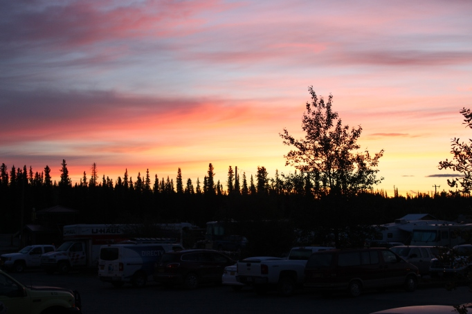 Gorgeous sunrise in Glennallen, Alaska