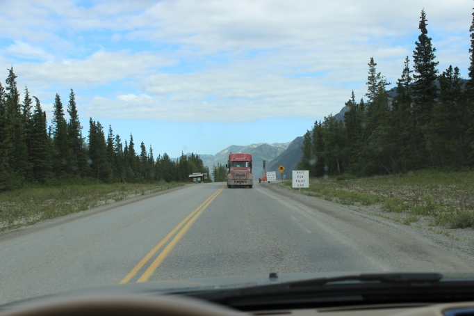 Inevitable delays on the Alaskan Highway!