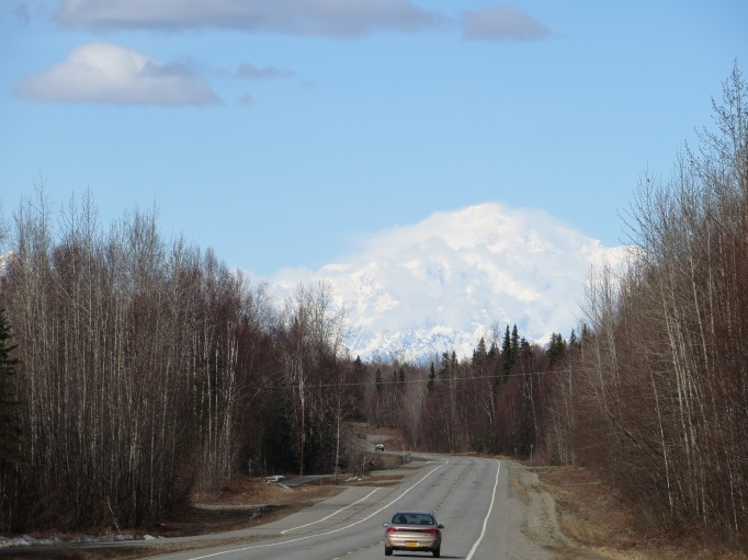 Cloud Shrouded Denali with Top Just Visible