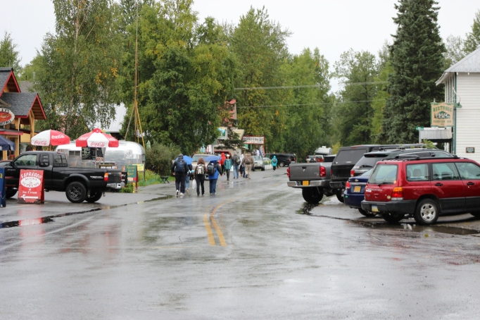 Tourists In Downtown Talkeetna