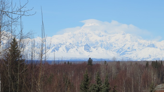 Cloud Capped Denali Awaits Climbers