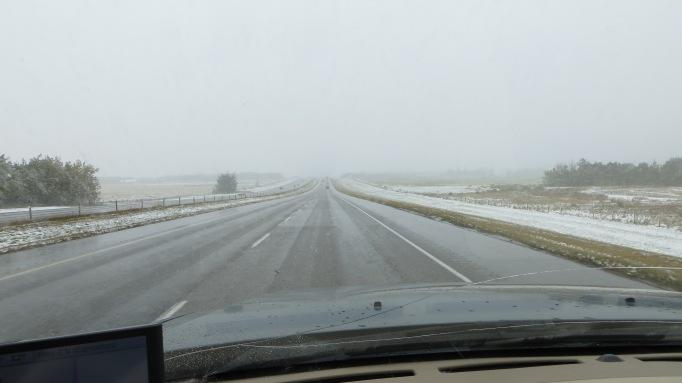 Snow North of Calgary